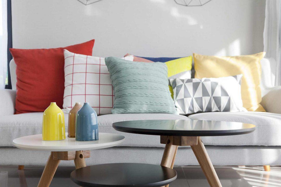An image of pillows on a couch